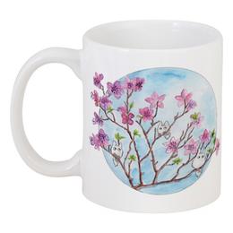 """Кружка """"Цветущая ветка багульника"""" - цветы, весна, тоторо, багульник"""