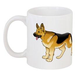 """Кружка """"Овчарка"""" - овчарка, собака, пёс, год собаки, 2018"""