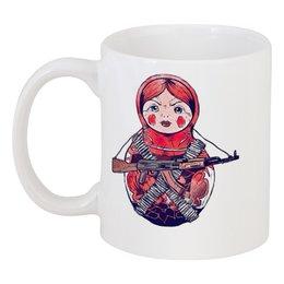 "Кружка ""Матрёшка-воин"" - матрешка, girl, russia, сувенир, матрёшка"