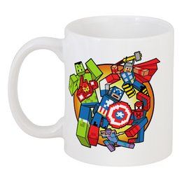 """Кружка """"Мстители"""" - комиксы, супергерои, minecraft, мстители"""