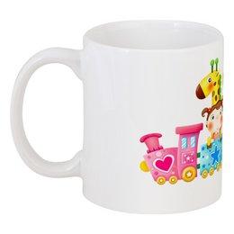 """Кружка """"""""Хорошее настроение"""""""" - сердечко, животные, кружка, игрушки, кружка в подарок, девочка, слоник, ребёнку, воздушный шарик, жираф"""