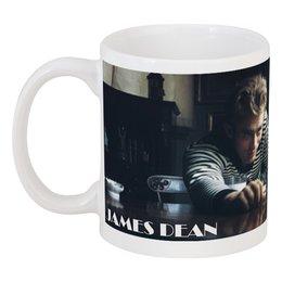 """Кружка """"Джеймс Дин James Dean с котом"""" - джеймс дин, кот, james dean, cat, легенда"""