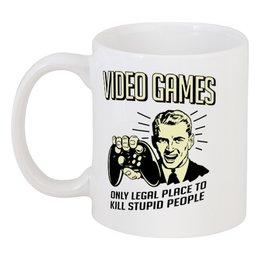"""Кружка """"Геймер"""" - приколы, компьютерные игры, old school, video games, для геймеров"""