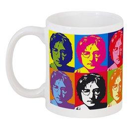 """Кружка """"Джон Леннон"""" - музыка, джон леннон, попарт, worhol"""