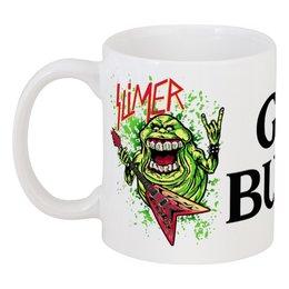 "Кружка ""Лизун/Slayer"" - юмор, slayer, охотники на привидений, thrash metal, ghost busters"