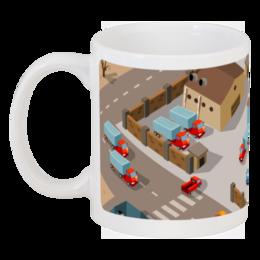 """Кружка """"Город"""" - арт, стиль, в, мужская, ретро, женская, чашка, город, pixel, крутые"""