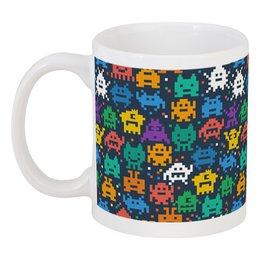 """Кружка """"Монстры пиксели"""" - minecraft, pacman, монстры, pixel art, пиксели"""
