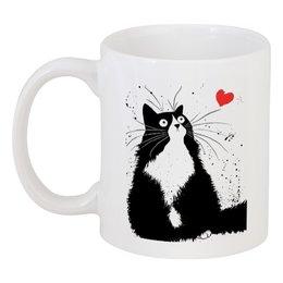 """Кружка """"Кот, мечтающий о Любви"""" - любовь, кот, мечта"""