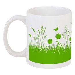 """Кружка """"Летняя трава"""" - бабочки, лето, цветы, трава, стрекозы"""