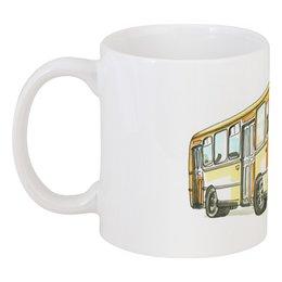 """Кружка """"ЛИАЗ-677"""" - транспорт, автобус, лиаз, лиаз-677"""