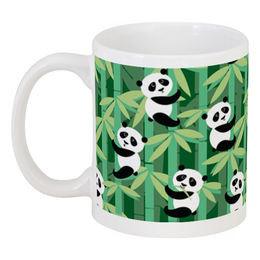 "Кружка ""Жизнь панд"" - узор, животные, панда, лес, бамбук"
