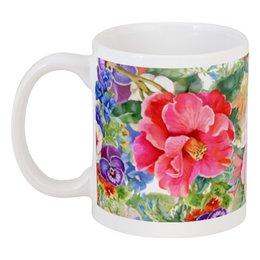 "Кружка ""Цветы"" - красиво, цветы, 8 марта, ярко"