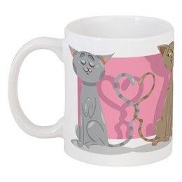 """Кружка """"Влюблённые коты"""" - любовь, коты, валентинка, день св валентина"""