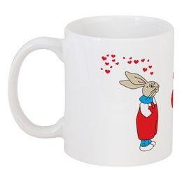 "Кружка ""Rabbits in love"" - любовь, love, сердечки, кролики"