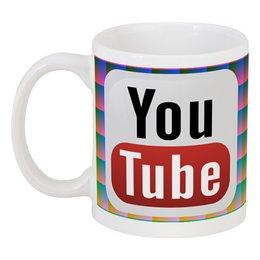 """Кружка """"YouTube"""" - logo, знак, youtube, логотип, символ"""