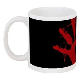 """Кружка """"Кровь. Смерть. Череп. Рука."""" - арт, ужас, хоррор, кровь, смерть"""