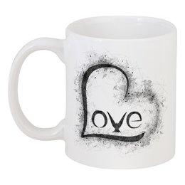 """Кружка """"Love Cup"""" - сердце, любовь, день святого валентина, 8 марта, голубь"""