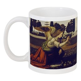 """Кружка """"Благовещение Пресвятой Богородицы"""" - картина, леонардо да винчи"""