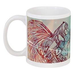 """Кружка """"Крылатый воин"""" - ангел, птица, рисунок, воин"""
