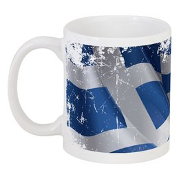 "Кружка ""Греческий флаг (Винди)"" - флаг, символика, греческий, греция, greece"