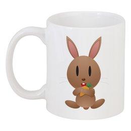 """Кружка """"Кролик"""" - заяц, кролик, животное, морковка"""