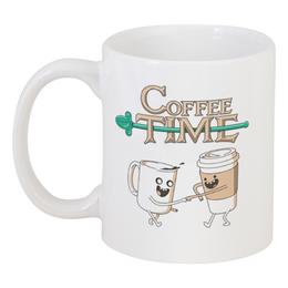 """Кружка """"Время кофе"""" - кофе, время приключений, adventure time"""