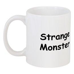 """Кружка """"Strange Monster"""" - монстр, чб, смешной, странный, doodle"""