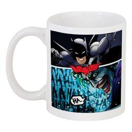 "Кружка ""SMILE (Batman vs. Joker)"" - joker, batman, джокер, бэтмен, mortal kombat"