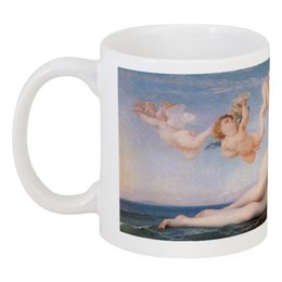 """Кружка """"Рождение Венеры (картина Кабанеля)"""" - картина, кабанель, море, ангелы"""