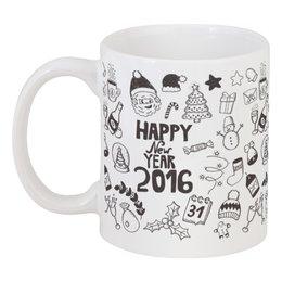 """Кружка """"Новый год"""" - happy new year, новый год, christmas, 2016"""