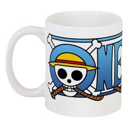 "Кружка ""One pice. Ван пис"" - череп, прикол, король, пираты, луффи"