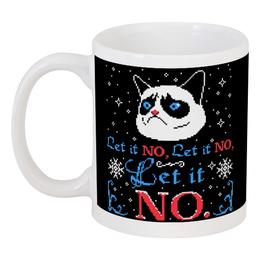 """Кружка """"Кот (cat)"""" - кот, кошка, новый год, cat, left it no"""