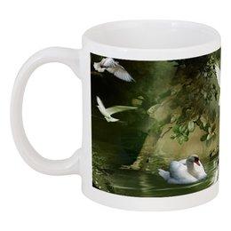 """Кружка """"ПТИЧИЙ РАЙ"""" - любовь, природа, птицы, рай, красота"""
