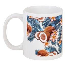 """Кружка """"Кокосы"""" - фрукты, рисунок, тропики, кокосы"""