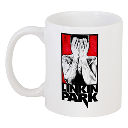 """Кружка """"Linkin park RED"""" - comics, red, linkin park, оригинально, кружка, стильно, креативно, авторские работы, lp"""