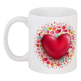 """Кружка """"Сердце"""" - сердце, валентинка, день св валентина"""
