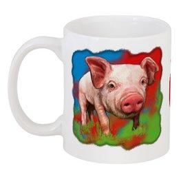 """Кружка """"Симпатичный свин"""" - новый год, свинка, свинья, хрюшка, поросёнок"""