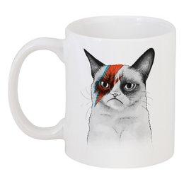 """Кружка """"Грустный Кот (Grumpy Cat)"""" - угрюмый кот, cat, сердитый котик, grumpy cat"""