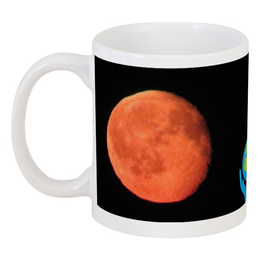 "Кружка ""Луны и Земля"" - земля, луна, планеты, moon, wikel"