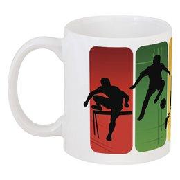 "Кружка ""Спорт. Футбол. Олимпиада"" - любовь, арт, спорт, сила, ловкость"