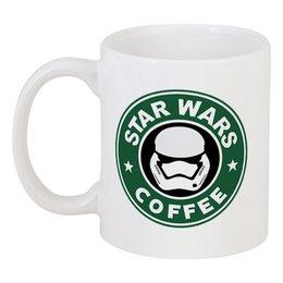 """Кружка """"Star Wars coffee"""" - звёздные войны, starbucks, пробуждение силы"""