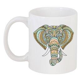 """Кружка """"Слоник"""" - животные, узоры, слон, природа"""