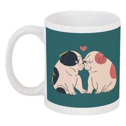 """Кружка """"Мопсики"""" - dog, pug, собака, cute, мопс"""
