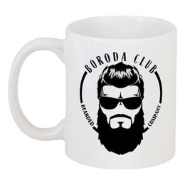 "Кружка ""Boroda Club (Classic)"" - волосы, борода, усы, мужчины, бакенбарды"