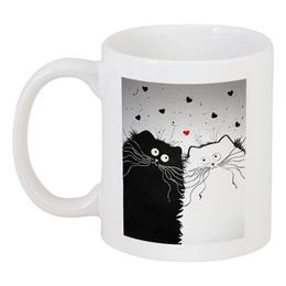 """Кружка """"Кот и Кошка"""" - любовь, юмор, кот и кошка"""