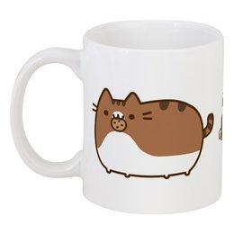 """Кружка """"Я очень голоден"""" - для коллеги, для офиса, котик, печенька"""