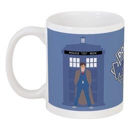 """Кружка """"Доктор Кто и ТАРДИС / Doctor Who & TARDIS"""" - doctor who, tardis, доктор кто, тардис, дэвид теннант"""