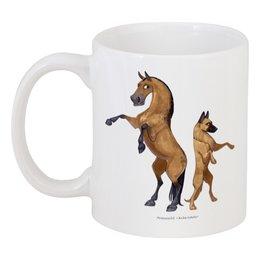 """Кружка """"Буланый пони/Малинуа"""" - лошадь, собака, пони, малинуа"""