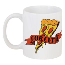 """Кружка """"Pizza forever"""" - вкусно, пицца, fast food, калории, анти спорт"""