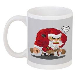 "Кружка ""Merry Christmas - рокер Санта"" - подарок, рождество, хардкор, merry christmas, санта рокер"